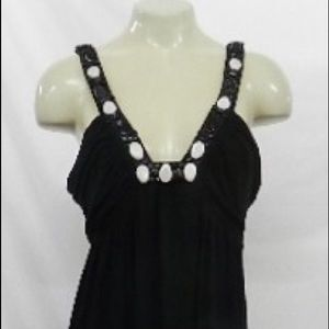 Embellished Black Maxi Tank Sundress